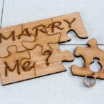Faire une demande en mariage avec un puzzle